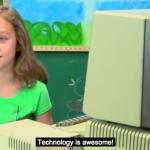 【英語学習動画】アップルが1977年に発表したパソコンを現代の子供たちが触ると?