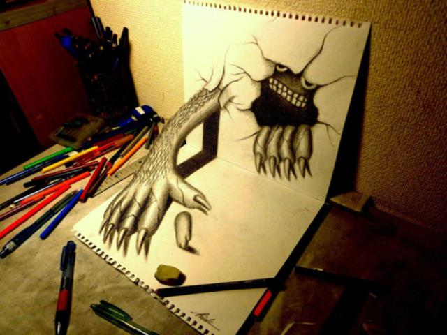 22-best-3d-pencil-drawings