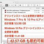 【Cドライブ激減】 Windows10 はクリーンインストールして使うべき